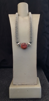 "Necklace of Dark Jasper, Length 15"" to 22"" $125"